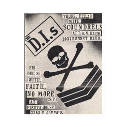 Flyer for Faith. No More's 2nd show